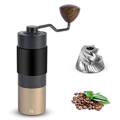 Manual Coffee Grinder – HEIHOX Hand Coffee Grinder with Adjustable Conical Stainless Steel Burr Mill, Capacity 30g…