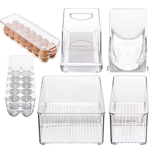 Stackable Bins Kitchen Storage Containers Refrigerator Organizer 6 pc Set Bins 4 Grins by Bins 4 Grins
