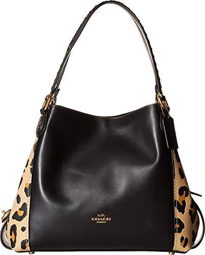 COACH Women's Edie Shoulder Bag 31 With Blocked Leopard Print Leopard One Size