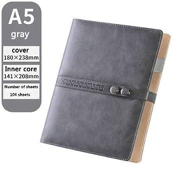 ShAwng Diseño de Doble botón Cuaderno Espiral 6 Hoyos Hoja ...