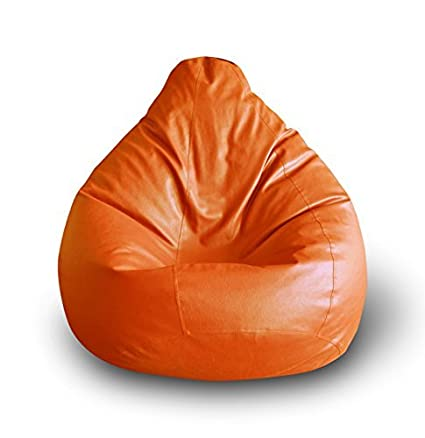 Enjoyable Orange Xxxl Size 46X28 Inch Relaxing High Back Gaming Bean Bag Chair Cover Only Without Bean Fillers Protective Liner From Nexis Sundry Uwap Interior Chair Design Uwaporg