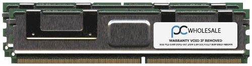 HP 16GB [2X 8GB] PC2-5300 DDR2-667 2Rx4 ECC Fully Buffered FBDIMM Memory Kit (HP PN# 413015-B21)
