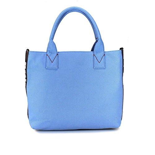 Pinko Borsa A Mano Donna 1H20DSY4C9E82 Tessuto Azzurro