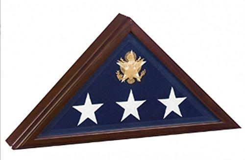 (Memorial Flag Display Case - Presidential Flag Case - Cherry)