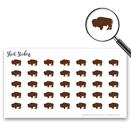 Buffalo, Sticker Sheet 88 Bullet Stickers for Journal Planner Scrapbooks Bujo and Crafts, Item 1321774