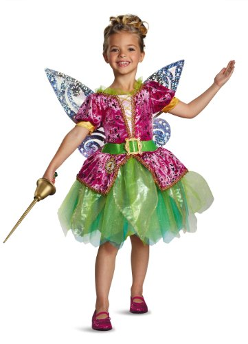 [Disguise Disney's The Pirate Fairy Pirate Tinkerbell Deluxe Girls Costume, Small/4-6x] (Tinkerbell Fairy Costumes For Women)
