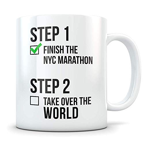 NYC Marathon Gifts for Men and Women - Funny Marathoner Coffee Mug - Great New York City Marathon Gift Idea for Runners, Athletes, or First Timers (For $25 Under Ideas Gift Runners)
