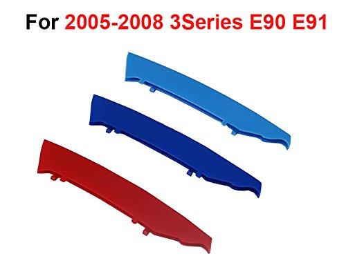 12 parrillas Muchkey 3D M-Color Parrilla de ri/ñ/ón,para E90 E91 2005-2008,3 colores parrilla delantera trim