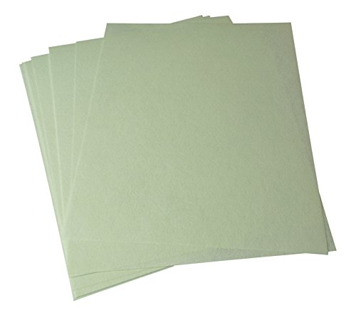 10 Pack 3M Light Green Wet or Dry Tri-M-Ite Polishing Papers 1 Micron 8000 Grit Jewelry Making Abrasive Sheets