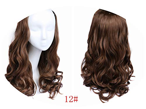 Cherryi U Part Clips In Wavy Hair Extension Half Wig For Women High Density -