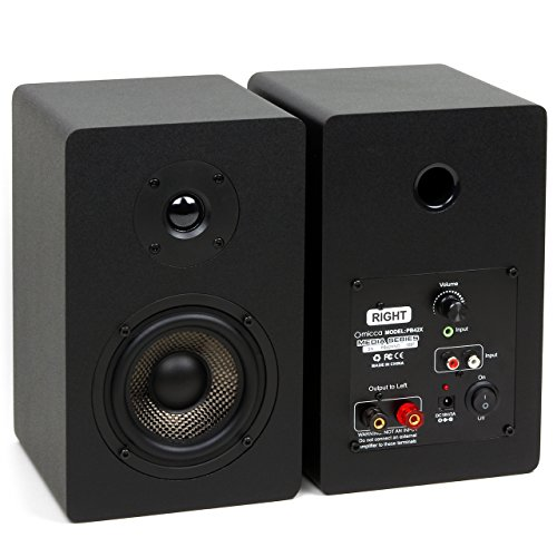 Micca PB42X 15W x 2 Powered Bookshelf Speakers (Pair) (Certified Refurbished) by Micca (Image #2)