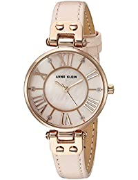 Women's Quartz Metal and Leather Dress Watch, Color:Pink