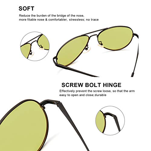 Mens Polarized Photochromatic Sunglasses, Aviator Night-Driving Glasses, Sports Sunglasses with UV 400 Protection for Driving