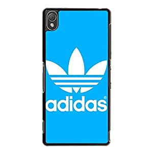 Bright Simple Adidas Logo Cover Phone Case Flexible Protective Cover Case for Sony Xperia Z3 Adidas Series