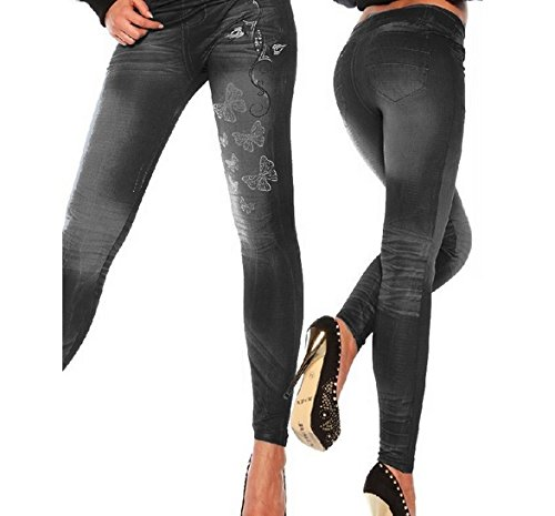 7a254ec351374 Image Unavailable. Image not available for. Colour  Women Leggings Jeans  Causal Plus Size Jeggings Pants Hot Trousers Black
