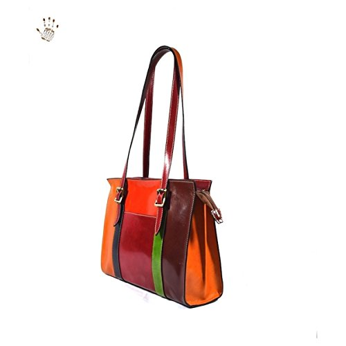 Borsa Donna A Tracolla In Pelle Colore Marrone - Pelletteria Toscana Made In Italy - Linea Prestige