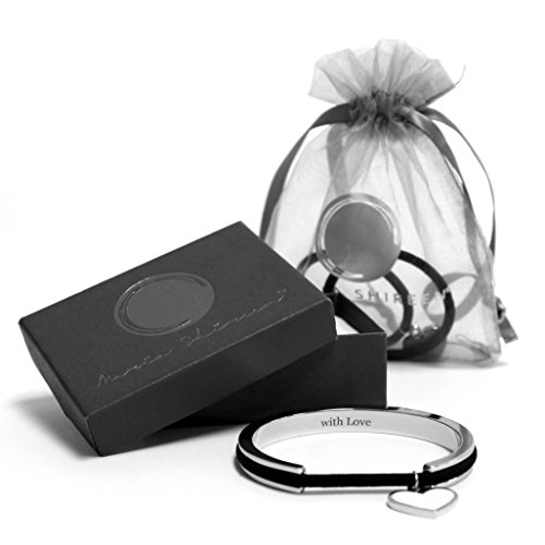Maria Shireen Limited Edition With Love Hair Tie Bracelet Gift Set - Classic Design, Steel Silver by Maria Shireen