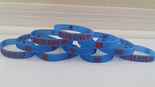 WWE - Glow in the Dark - JOHN CENA ''NEVER GIVE UP'' bracelets kids party favors (10 pack) by Unbranded