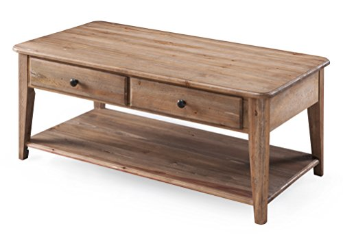 Magnussen T3749-44 T3749 Baytowne Transitional Rectangular Condo Coffee Table in Barley -