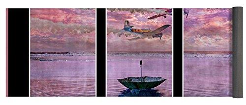 Pixels Yoga Mat w/ Bag ''Freedom Flyers'' by Pixels