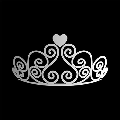 Princess Tiara [Pick Color] Vinyl Transfer Sticker Decal for Laptop/Car/Truck/Window/Bumper (4