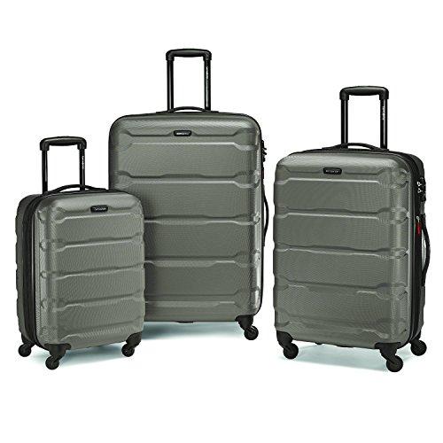Luggage Lock Samsonite (Samsonite Omni Pc 3 Piece Set Spinner 20 24 28, Silver)