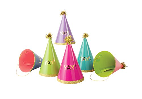 Party Partners 6 Count Paper Hats  Yay
