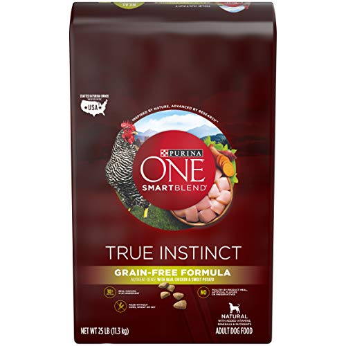 Purina ONE Grain Free, Natural, High Protein Dry Dog Food; SmartBlend True Instinct Real Chicken - 25 lb. Bag