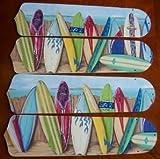 "Hawaiian Surfboards 17"" Ceiling Fan Blades"