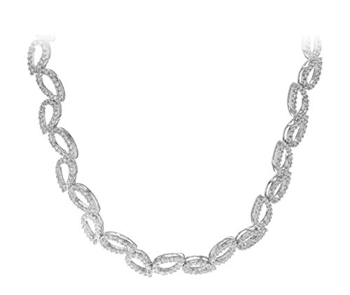 Carissima Gold Collier 18carats (750/1000) Or Blanc Rond Diamant Femme 41 centimeters