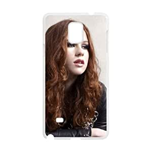 KatyB Samsung Galaxy Note 4 Cell Phone Case White Phone cover M8826523