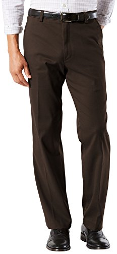 Dockers Easy Khaki D3 Classic-Fit Flat-Front Pant, Coffee Bean, 40 32
