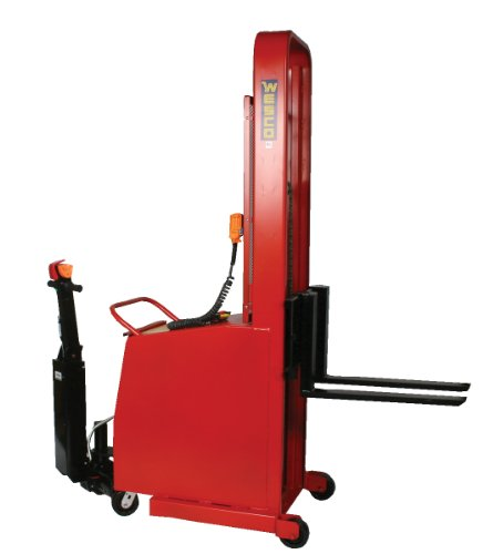 Wesco-Industrial-Products-261038-Fork-Model-Counter-Balance-Battery-Powered-Stacker-1000-lb-Load-Capacity-64-Lift-Height-595-L-x-265-W-x-825-H