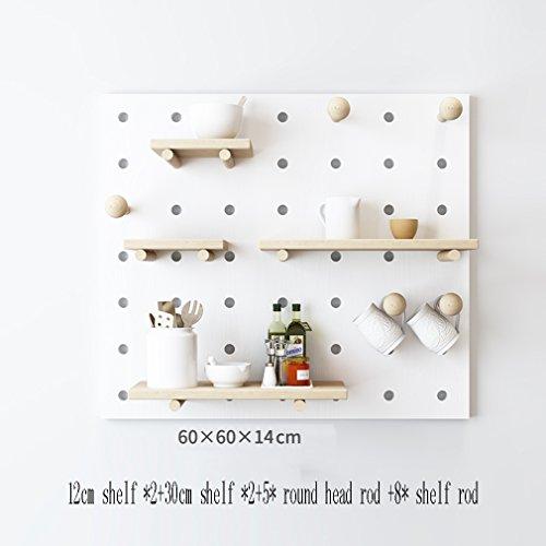 Estantería de pared flotante de múltiples capas Placa de madera maciza Sala de estar universal de mesa de jardín nórdico...