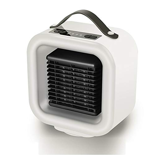 Fdgnb Portable Space Heater 650W/1000W Personal Mini Fan Heater Ceramic Small Heater with Thermostat & Tip Over Protection, White, for Home, Office, Bedroom, Pets