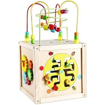 Amazon.com : Classic World Toys Multi-Activity Cube with ...