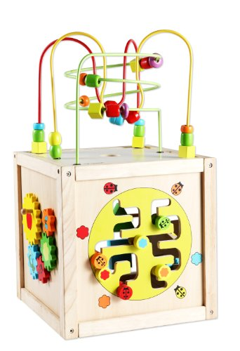 Awesome Classic Toy Multi-activity cube w/wheels by .
