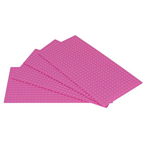"Classic Pink Baseplate Supplement 5"" x 10"" Building Bricks"