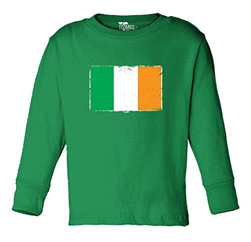 Irish Flag - Ireland Toddler Long Sleeve Shirt (Kelly, 4T) Ireland Irish Long Sleeve