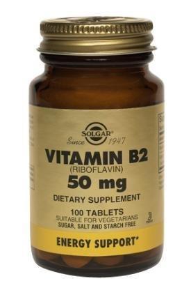 Solgar - Vitamine B2 (riboflavine), 50 mg, 100 comprimés