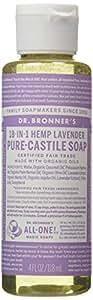 Dr. Bronner's Magic Soaps 18-in-1 Hemp Pure-Castile Liquid Soap, Lavender, 4 fl oz (118 ml)