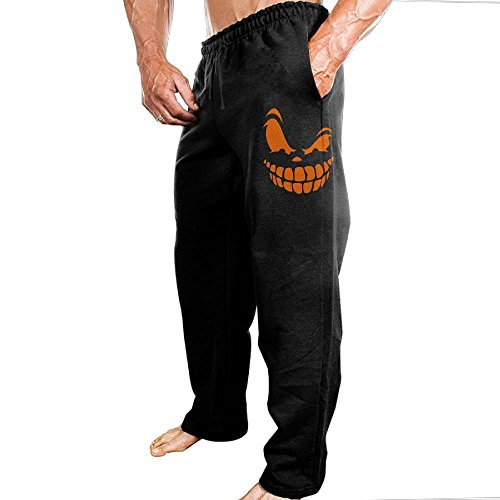 Smile Pumpkin Halloween Elastic Waist Casual Jogger Sports Sweatpants For Men
