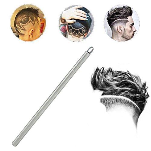 Razor Blades Shaving Pen Hair Engraver Pen – With 10 Blades Stainless Steel Shavings Pen Eyebrows Tweezers