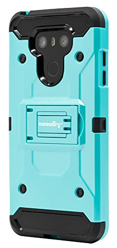 Lg G6 Case  Maxessory  Pathfinder  Heavy Duty Rugged Protector Armor Cover W Shock Absorbing Durable Cushion Shell   Kickstand View Mode Teal Black For Lg G6 2017