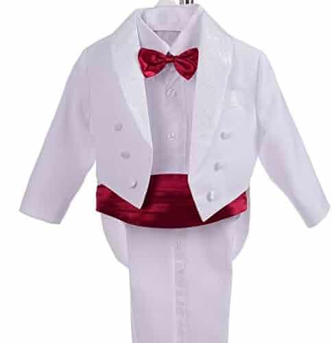 6afacc8d9de Dressy Daisy Boys  Classic Tuxedo w Tail 5 Pcs Set Formal Suits Wedding  Outfit