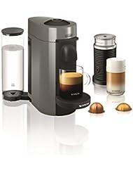 Nespresso by De'Longhi ENV150GYAE VertuoPlus Coffee and Espresso Machine Bundle with Aeroccino Milk Frother by De'Longhi, 5.6 x 16.2 x 12.8 inches, Graphite Metal
