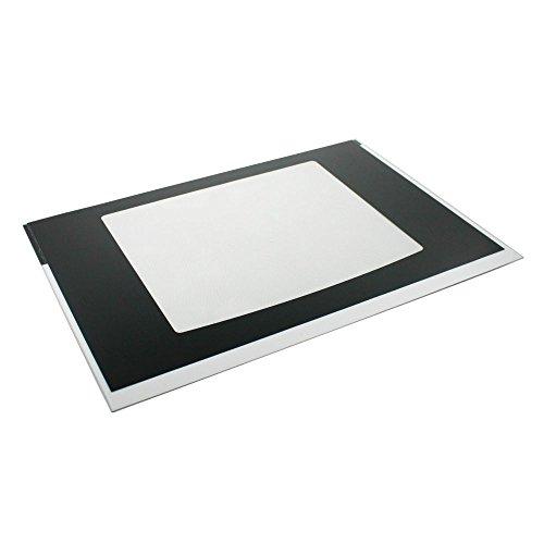 316452717 Range Oven Door Outer Panel and Foil Tape (Black) Genuine Original Equipment Manufacturer (OEM) Part Black
