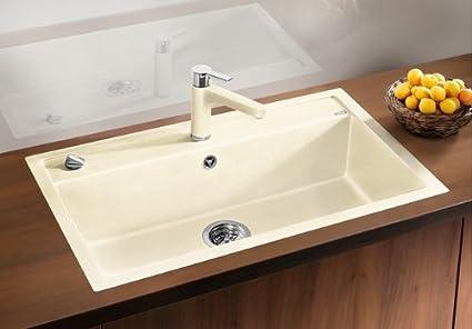 Blancodalago 8 F Flush Mount Inset Sink Alumetallic Silgranit