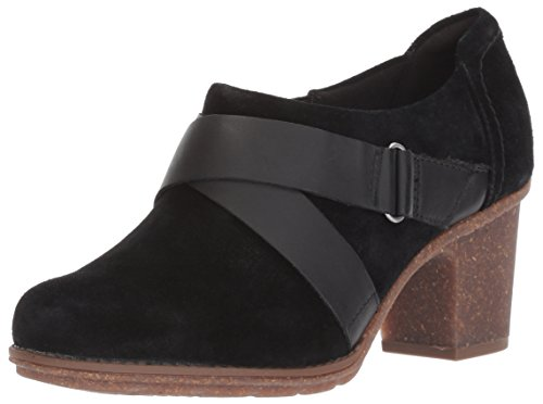 (CLARKS Women's Sashlin Fiona Ankle Bootie, Black, 6.5 M US)