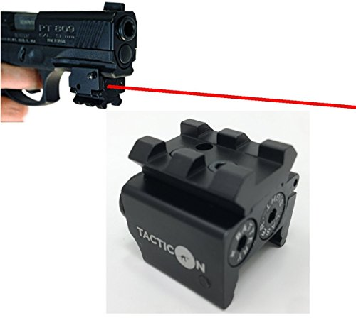 TACTICON Laser Sight | Rifle Handgun | Weaver or Picatinny Rail | Red Dot Lazer Sight Pistol | Tactical Sights Airsoft | Laser Sight | Scope Hand Gun Rifles | Laser Pointer Pistol | Air Soft Optic (Best Xdm Laser Sight)